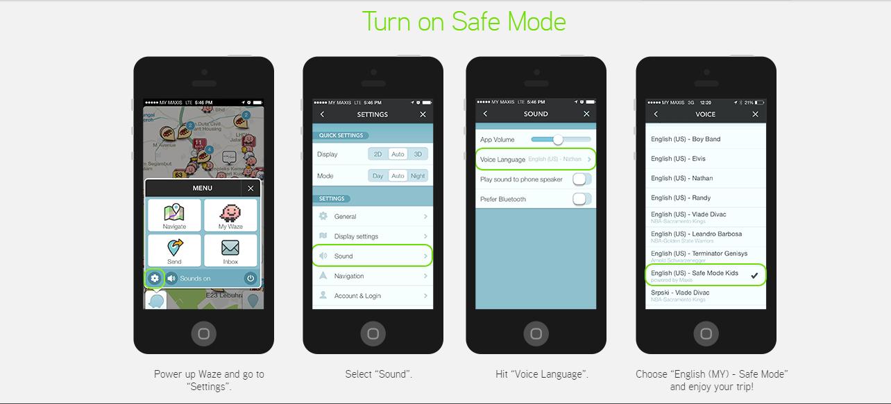 Step by Step using Waze