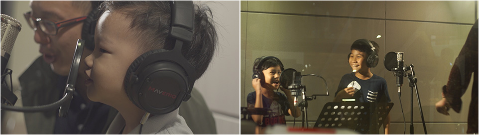 Kids Having Their Voice Being Recorded